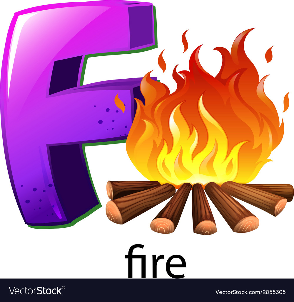 A letter f for fire vector | Price: 1 Credit (USD $1)