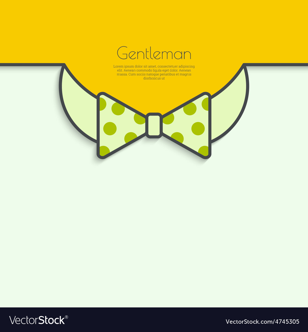 Abstract background with bow tie vector | Price: 1 Credit (USD $1)