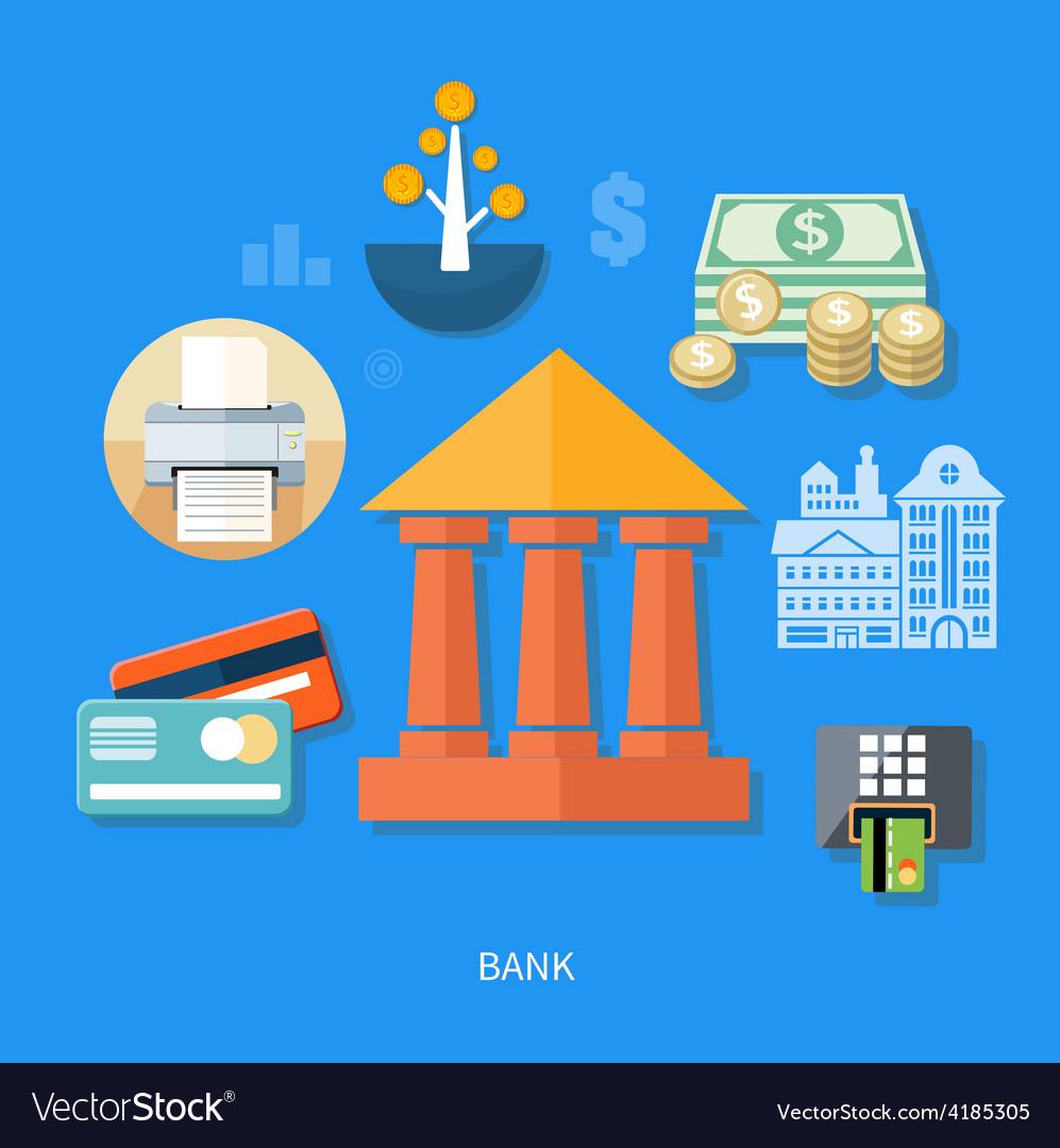 Bank office symbol vector | Price: 1 Credit (USD $1)