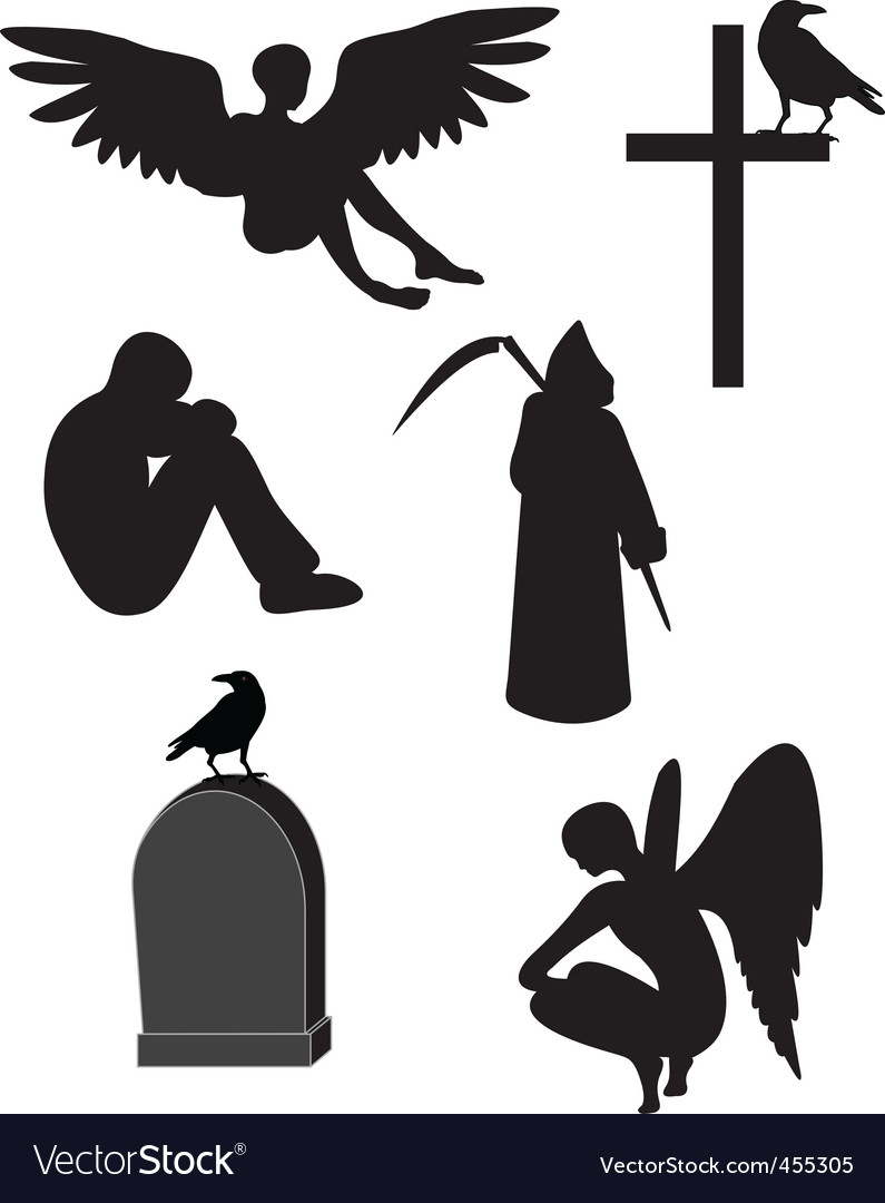 Death icons vector | Price: 1 Credit (USD $1)