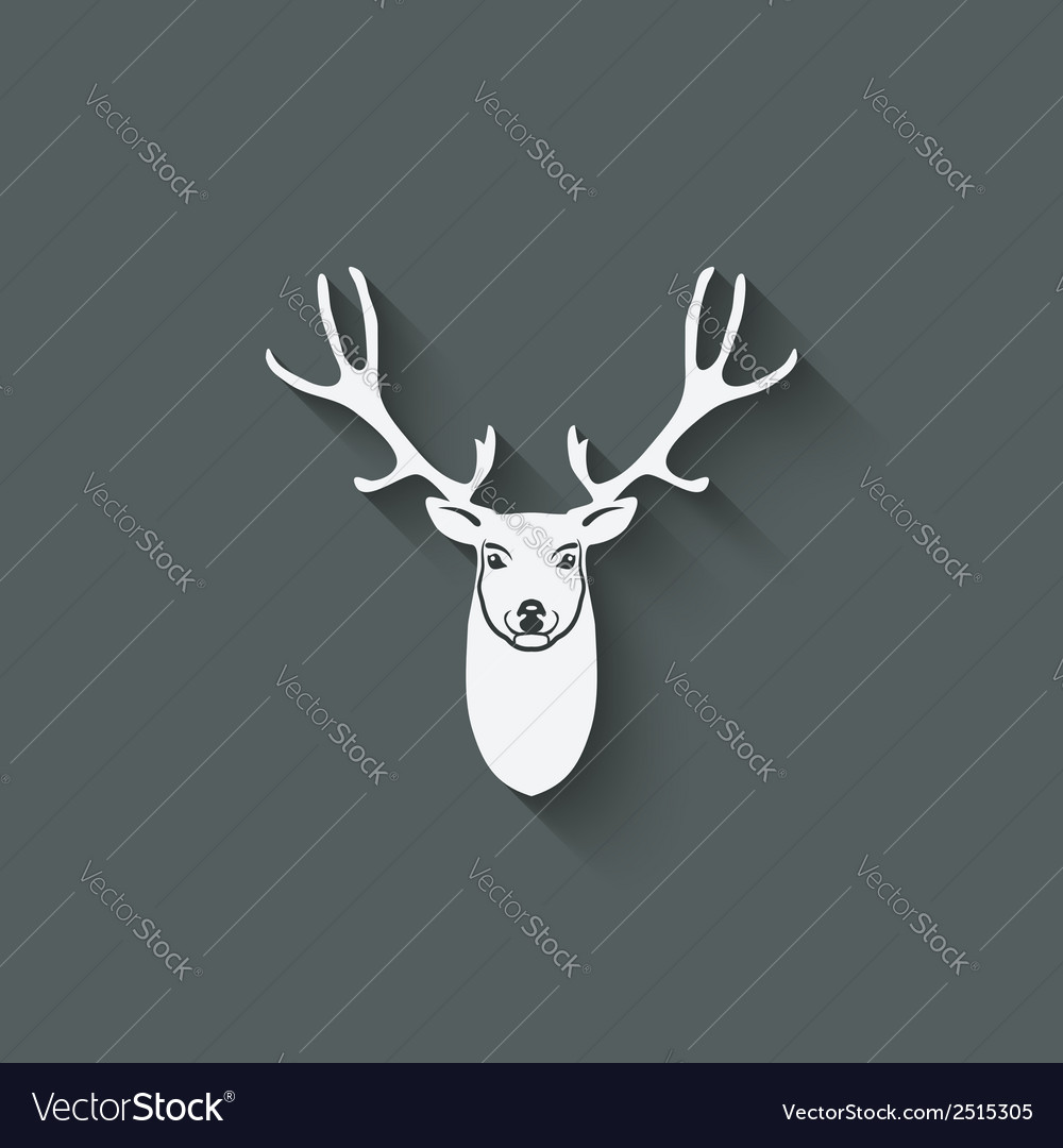 Deer head design element vector | Price: 1 Credit (USD $1)