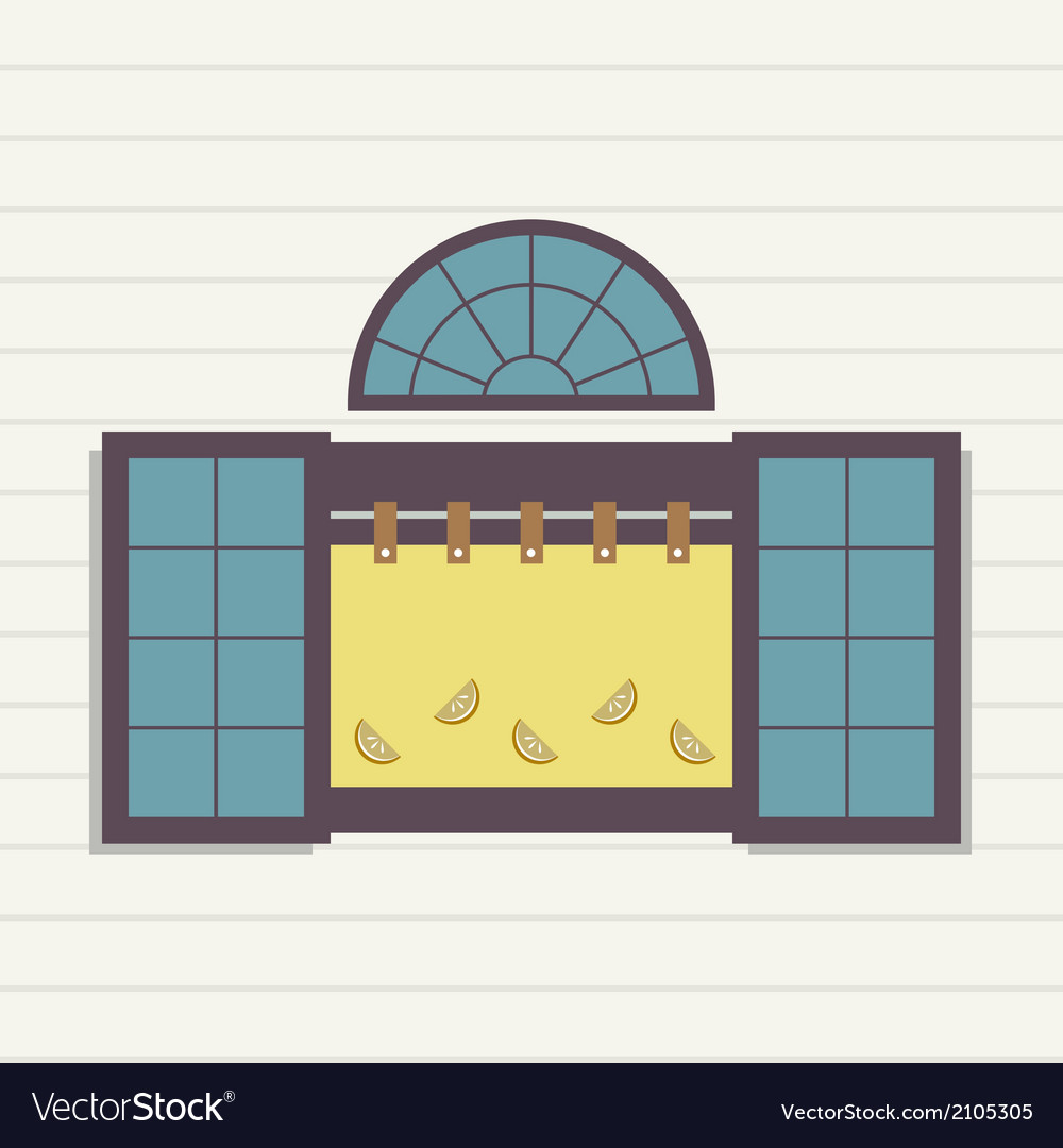 Flat design window vector | Price: 1 Credit (USD $1)