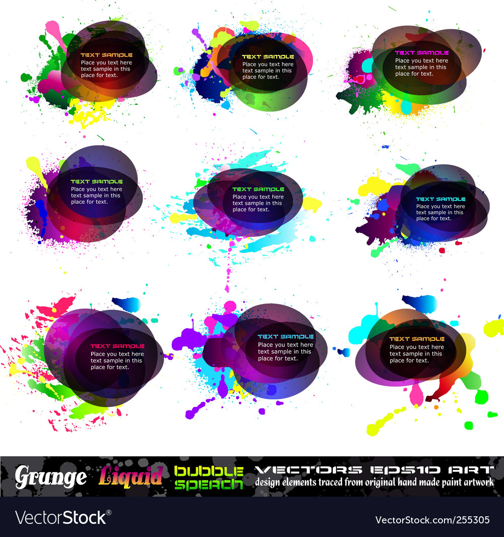 Grunge bubble vector | Price: 3 Credit (USD $3)
