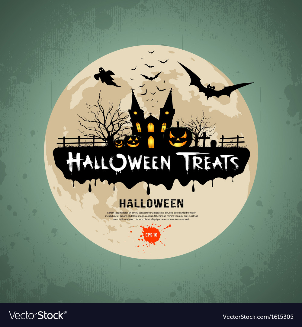 Halloween treats message design vector   Price: 1 Credit (USD $1)