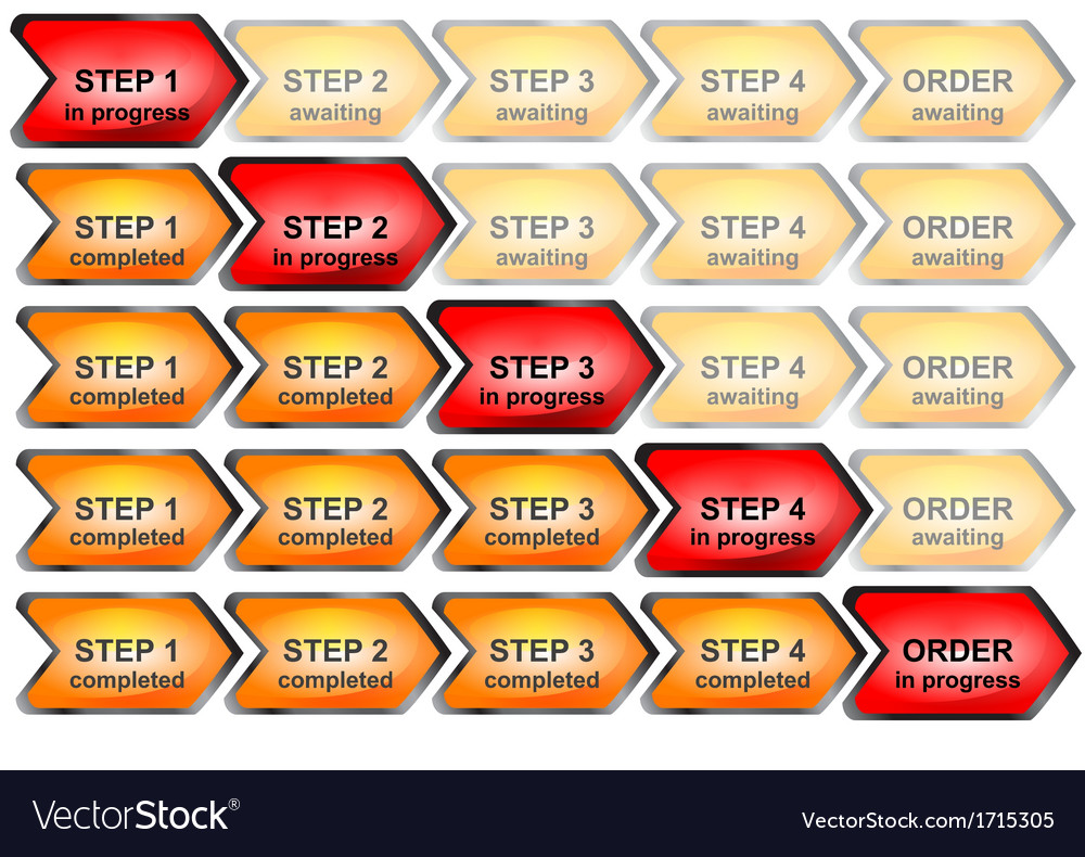 Progress bar for order process vector | Price: 1 Credit (USD $1)