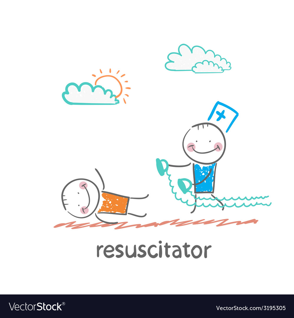 Resuscitation in a hurry to sick patient vector | Price: 1 Credit (USD $1)