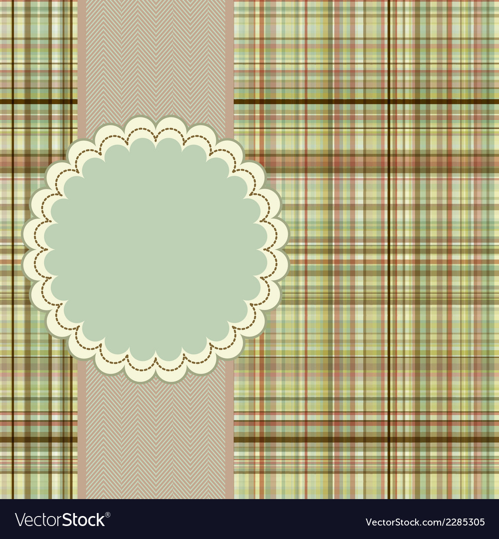 Wallace tartan vintage card background eps 8 vector | Price: 1 Credit (USD $1)