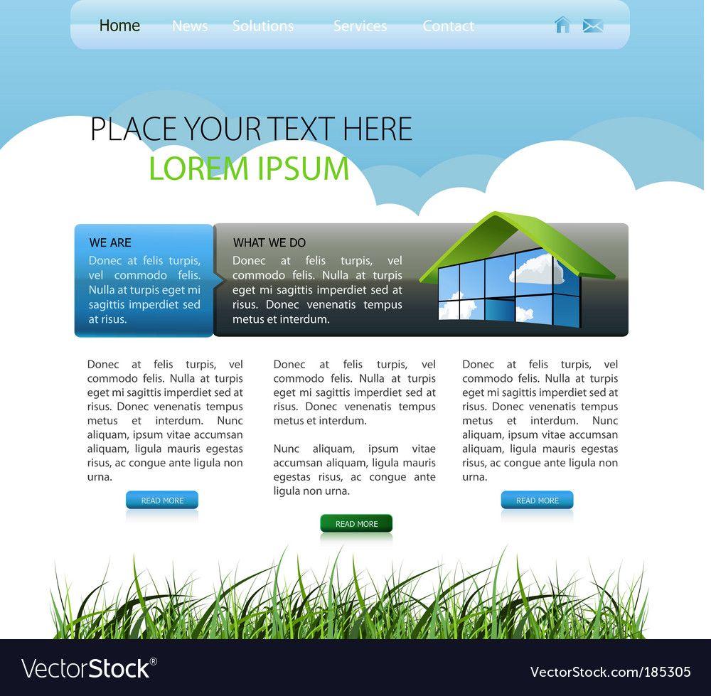 Web page layout vector | Price: 1 Credit (USD $1)
