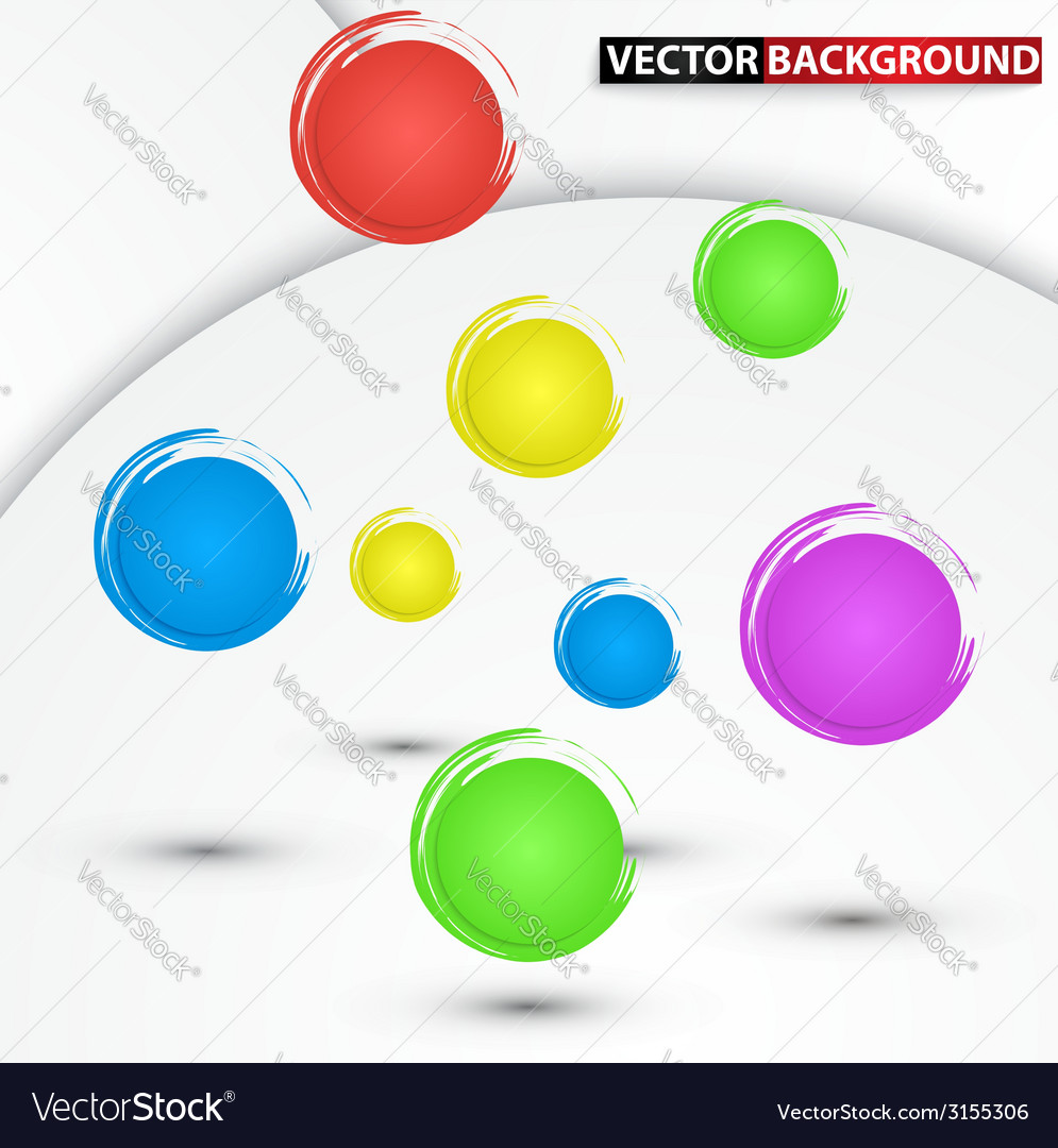 Abstract colorful circle background vector | Price: 1 Credit (USD $1)