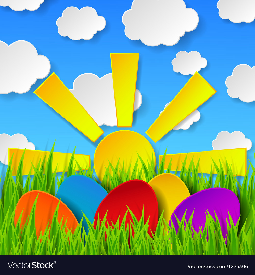 Abstract easter eggs vector | Price: 1 Credit (USD $1)