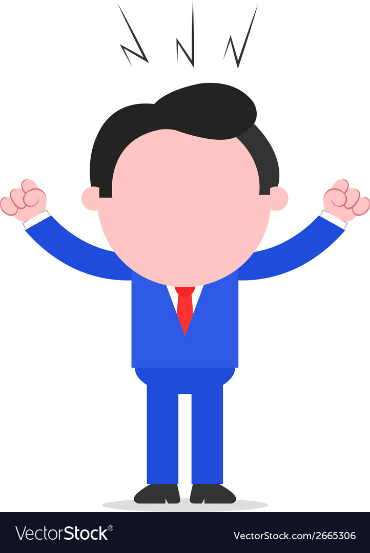Angry businessman vector | Price: 1 Credit (USD $1)