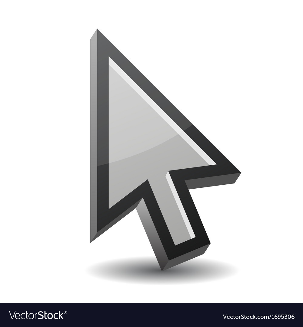 Arrow pointer isolated on white vector   Price: 1 Credit (USD $1)