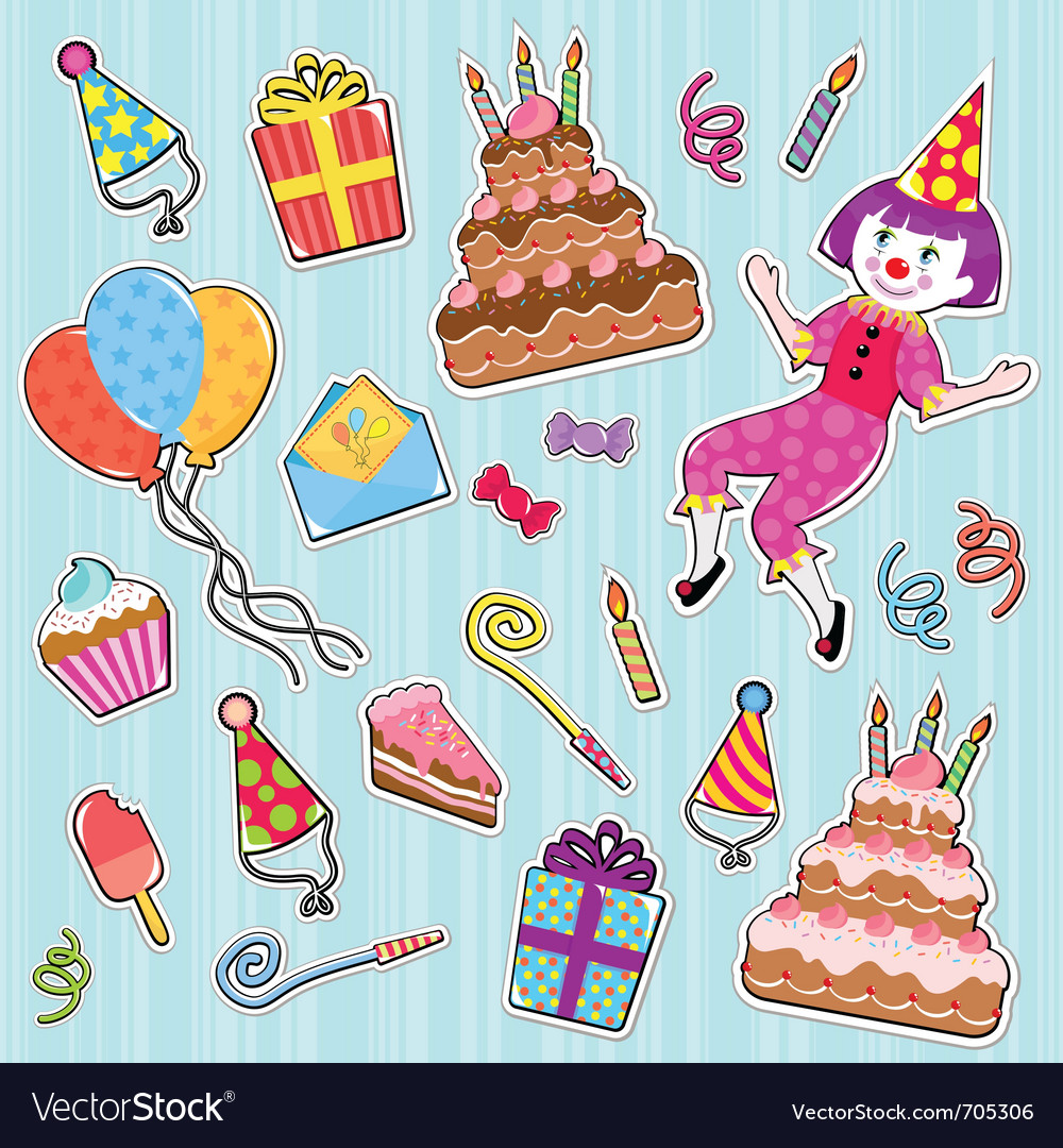 Birthday icons vector | Price: 3 Credit (USD $3)