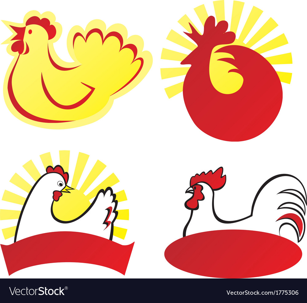 Chicken sign vector | Price: 1 Credit (USD $1)