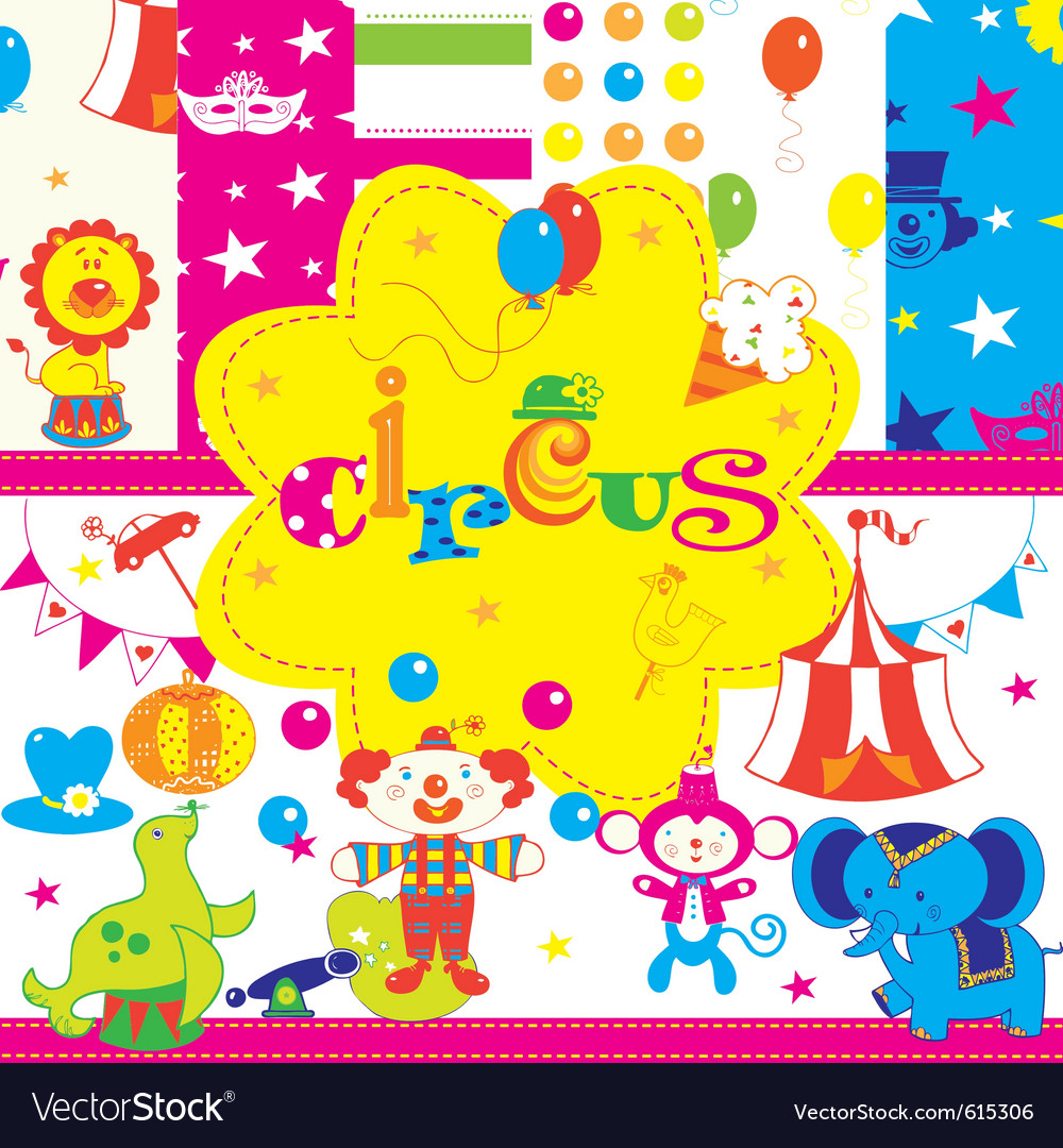 Circus wallpaper print vector | Price: 1 Credit (USD $1)