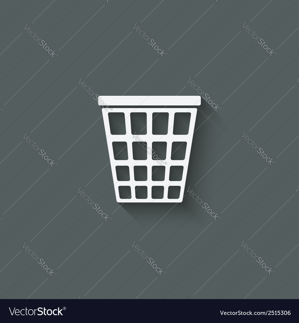 Empty trash basket vector | Price: 1 Credit (USD $1)