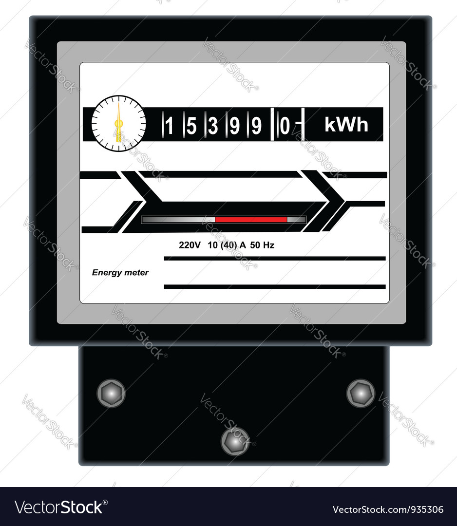 Energy meter 2 vector | Price: 1 Credit (USD $1)