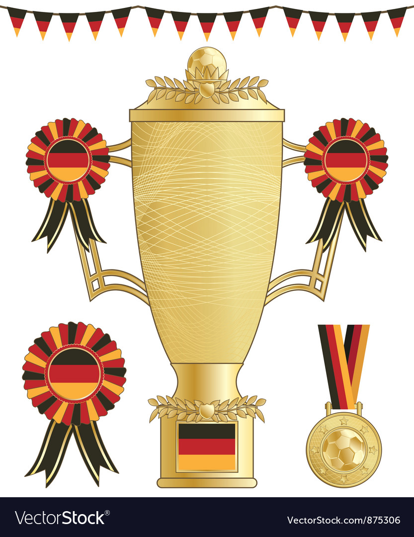 Germany football trophy vector | Price: 1 Credit (USD $1)