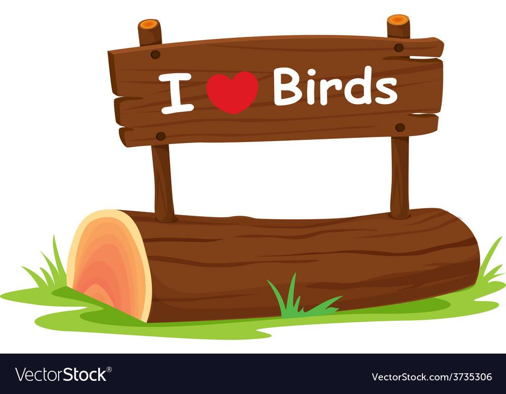 I love birds vector | Price: 1 Credit (USD $1)