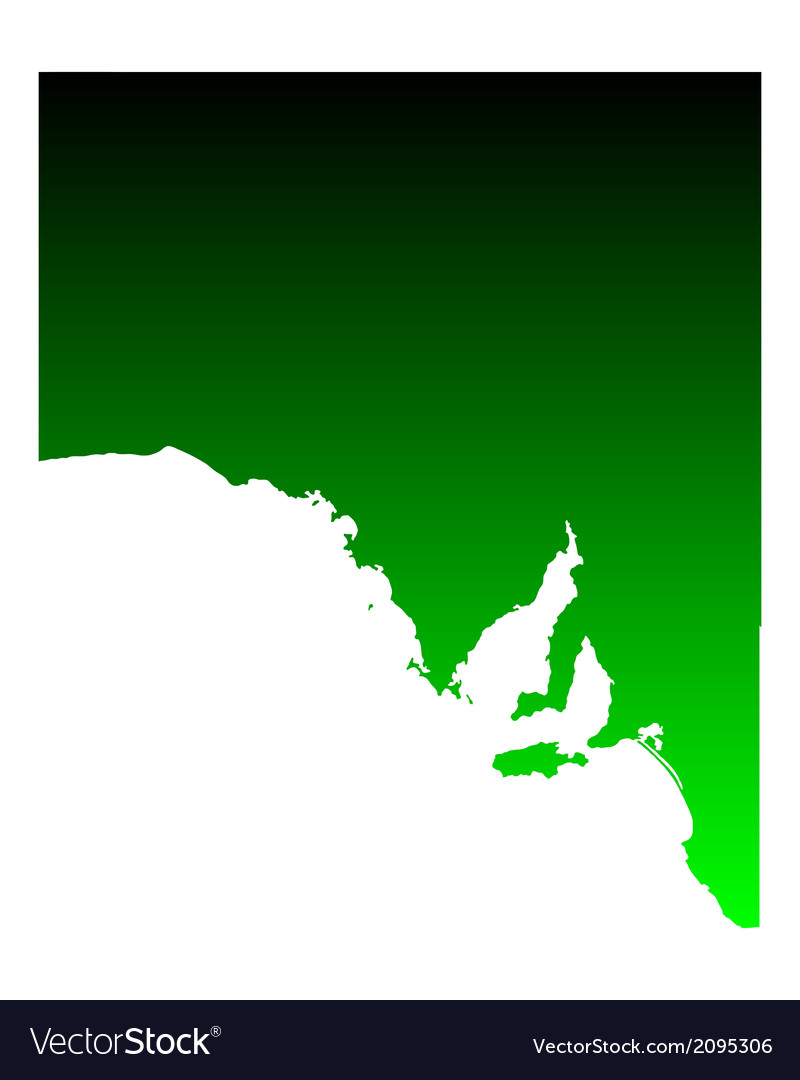 Map of south australia vector | Price: 1 Credit (USD $1)