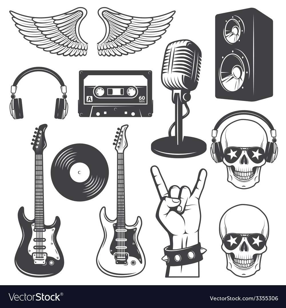 Rock set vector | Price: 1 Credit (USD $1)