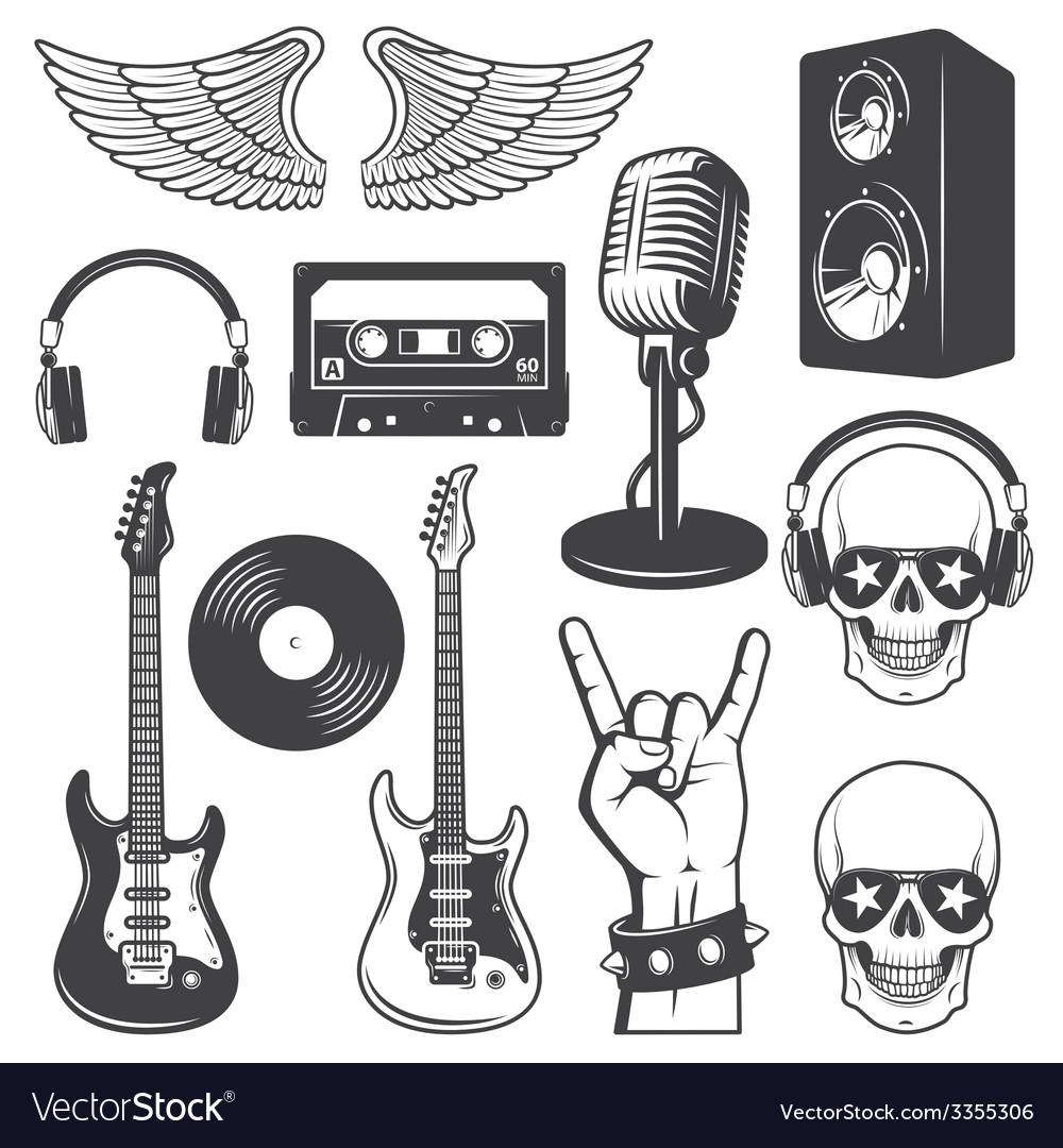 Rock set vector | Price: 1 Credit (USD $1)