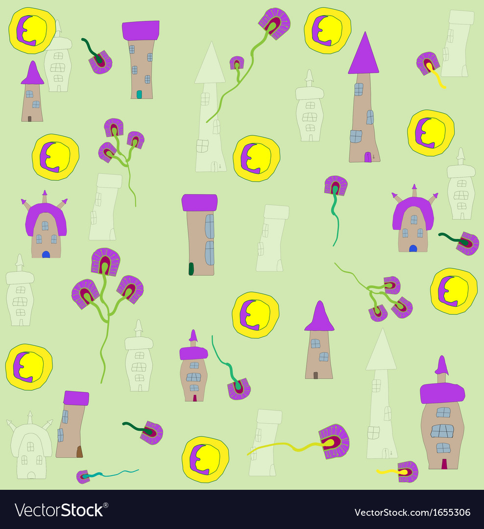 Seamless home kid pattern vector   Price: 1 Credit (USD $1)