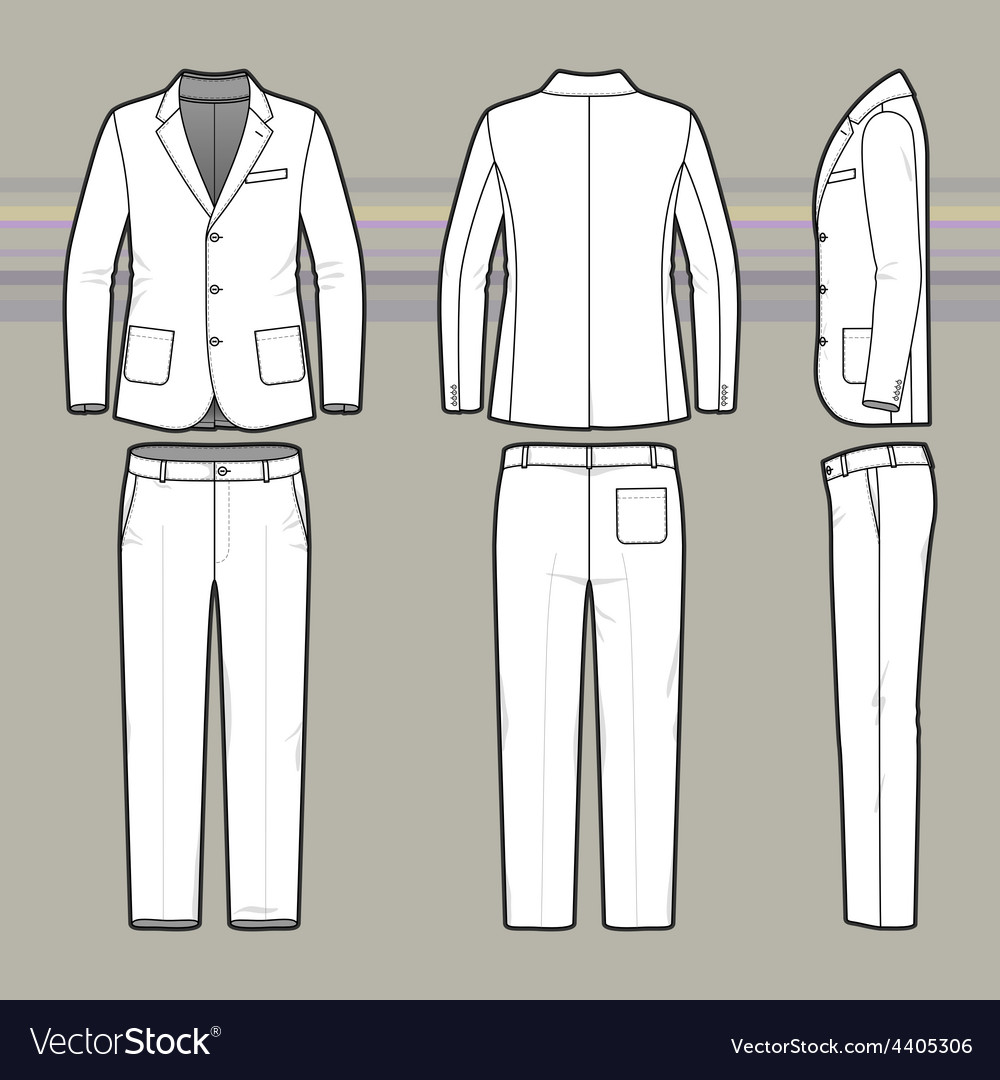 Simple outline drawing of a blazer and pants vector | Price: 1 Credit (USD $1)