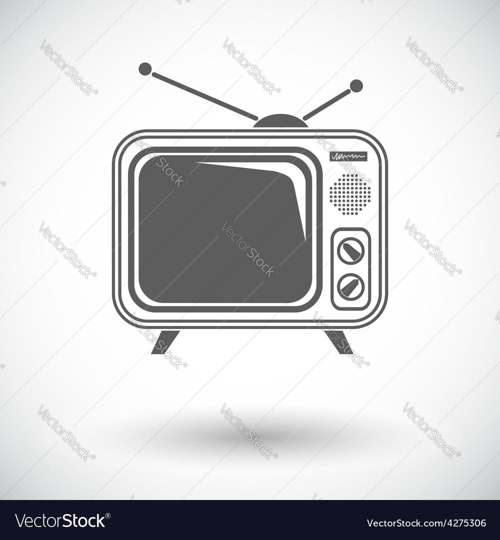 Tv single icon vector   Price: 1 Credit (USD $1)