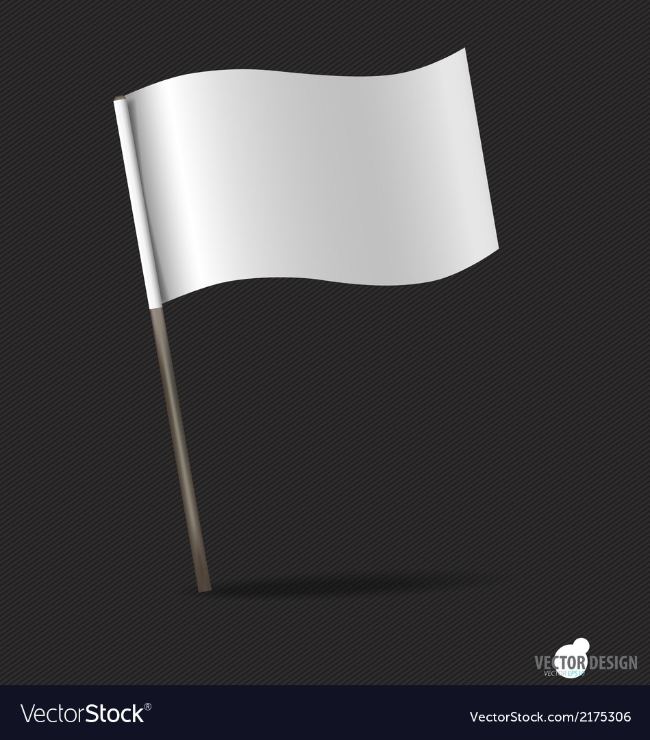 White flag vector | Price: 1 Credit (USD $1)