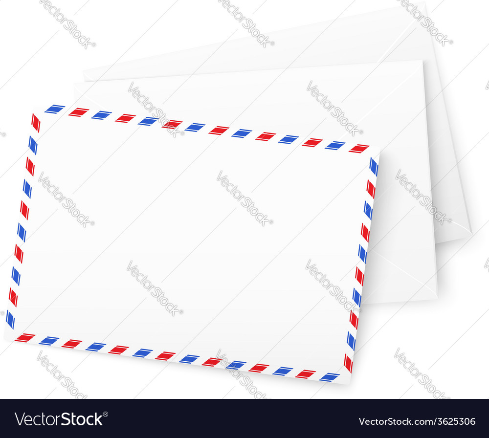 White paper envelops vector | Price: 1 Credit (USD $1)