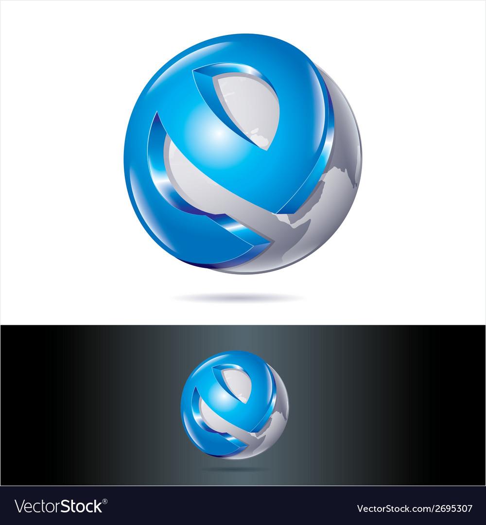 Blue techno icon vector | Price: 1 Credit (USD $1)