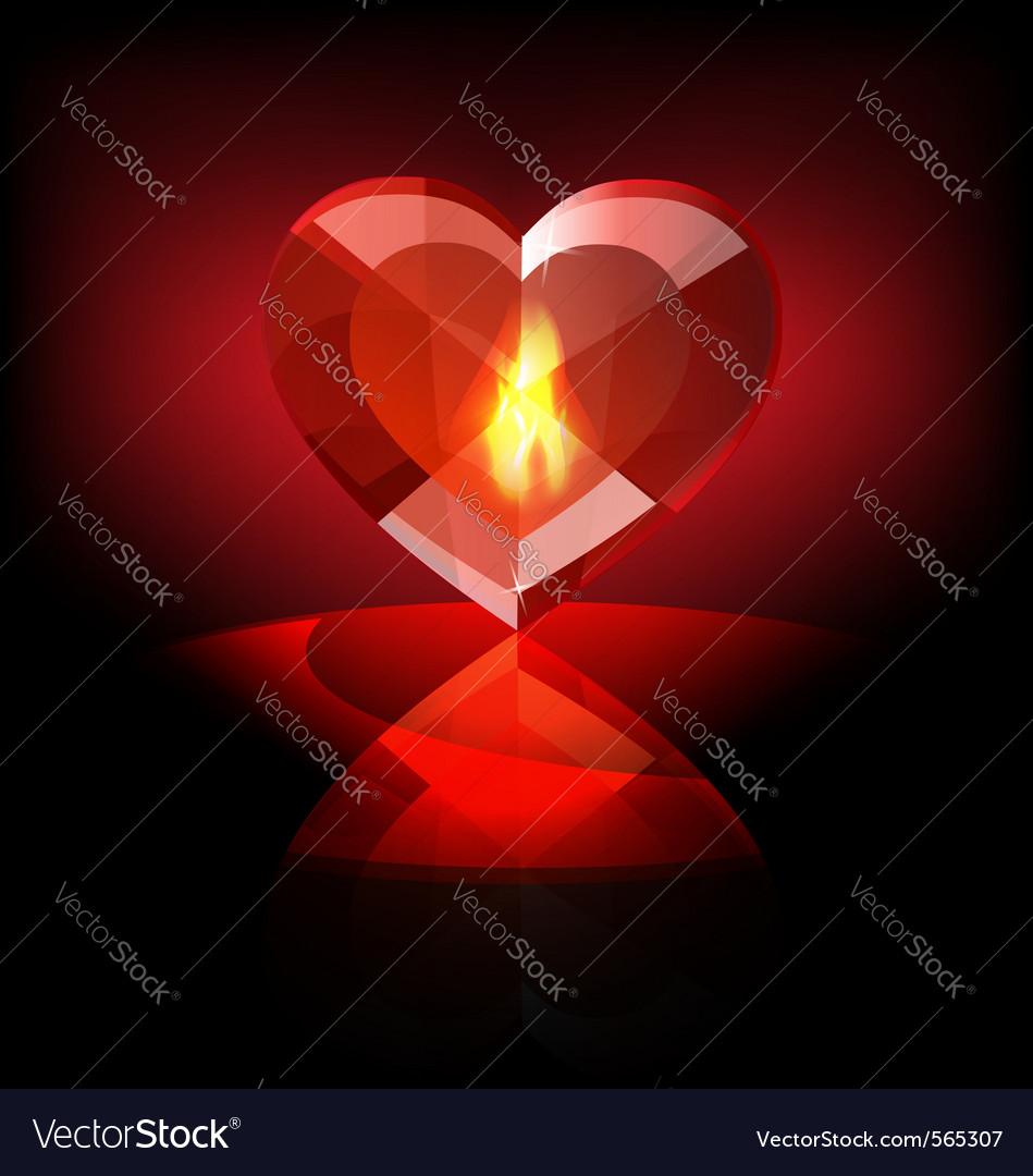 Heart crystal vector   Price: 1 Credit (USD $1)