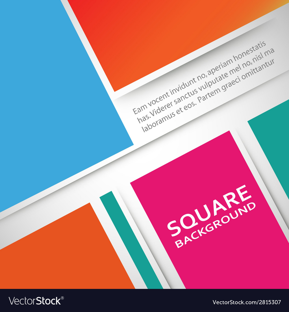 Large colored boxes with blank space for text vector | Price: 1 Credit (USD $1)