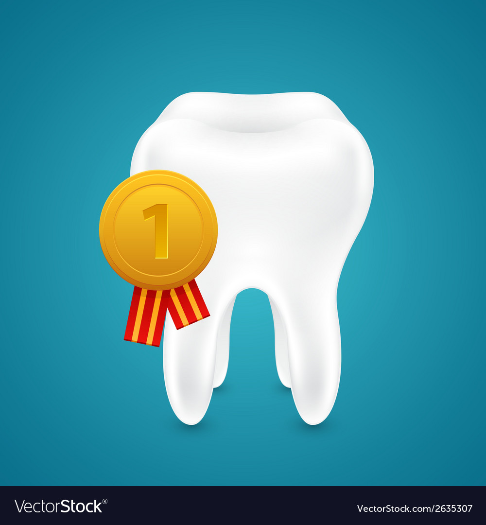 Medal for the cleanest tooth vector | Price: 1 Credit (USD $1)