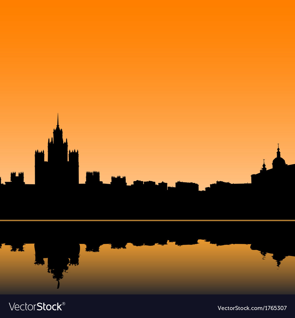 Moscow city silhouette skyline vector | Price: 1 Credit (USD $1)