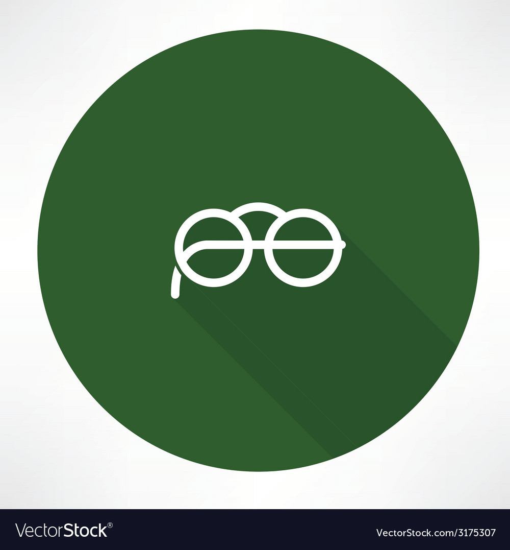 Round glasses icon vector | Price: 1 Credit (USD $1)