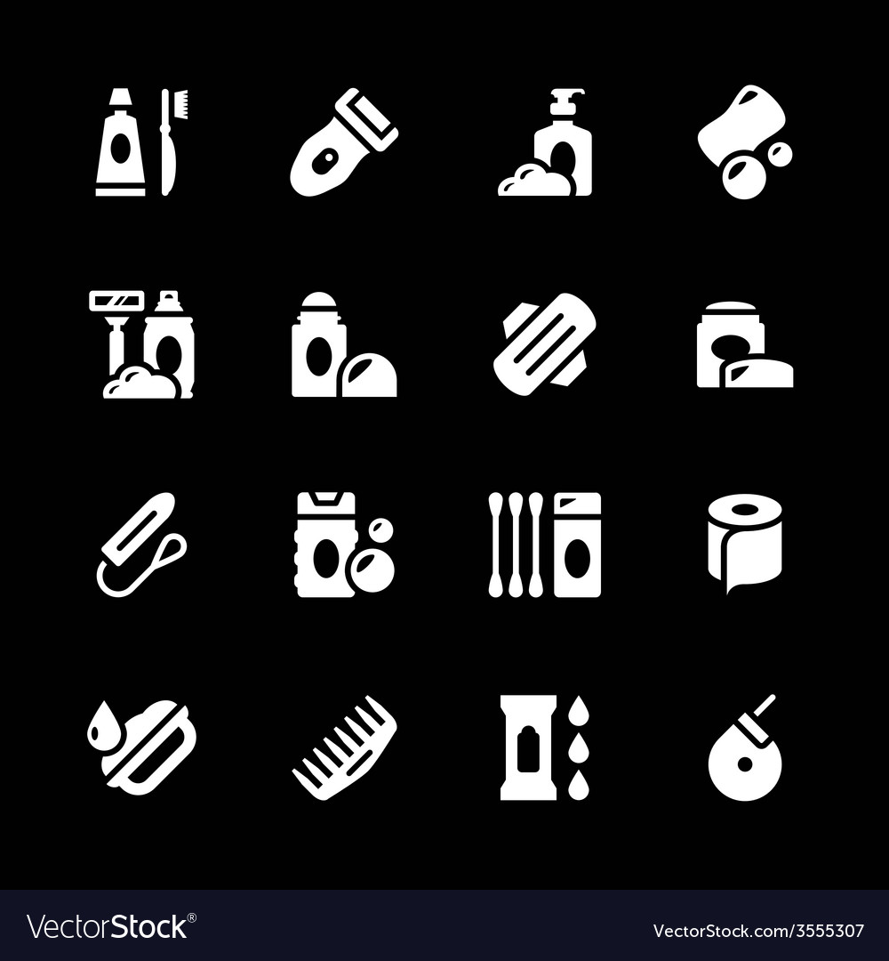 Set icons of hygiene vector   Price: 1 Credit (USD $1)