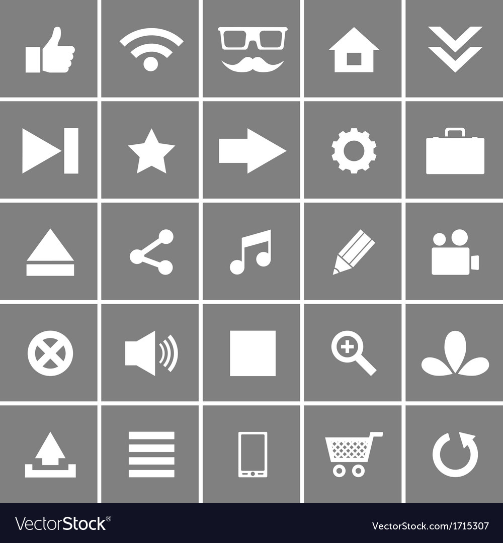 Universal flat icons set 1 vector | Price: 1 Credit (USD $1)