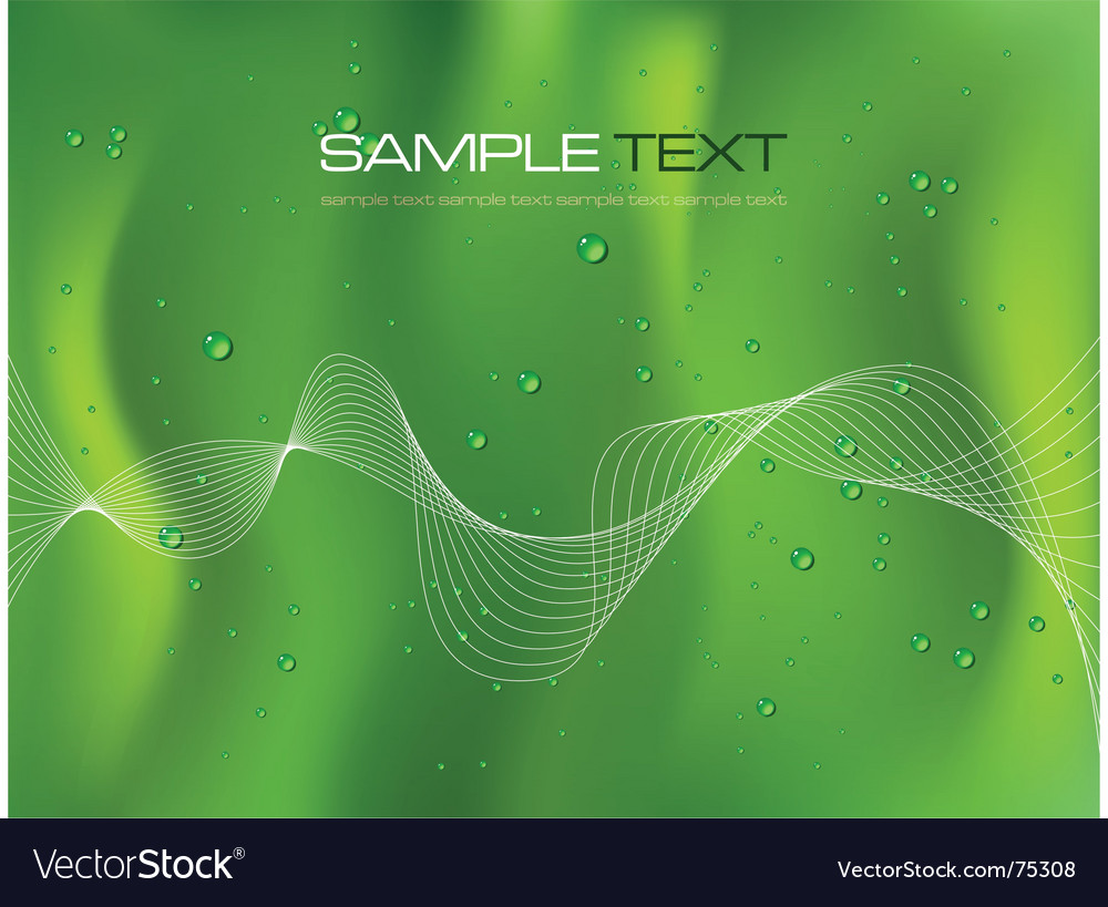 Abstract green background with droplets vector | Price: 1 Credit (USD $1)