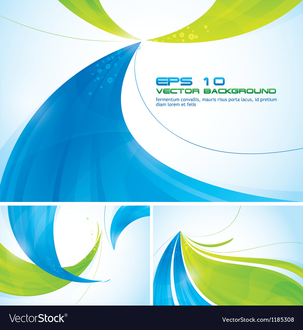 Blue and green abstract background vector | Price: 1 Credit (USD $1)