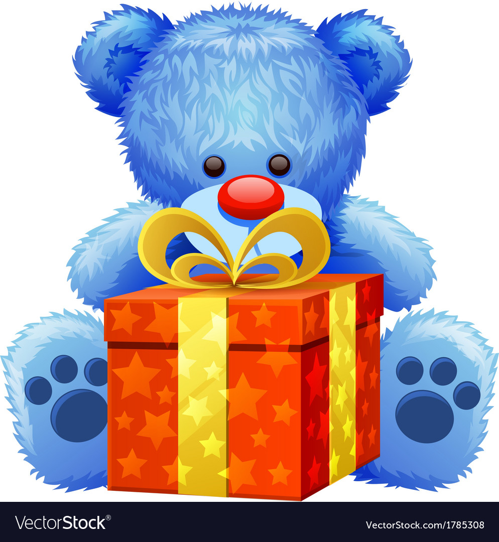 Blue teddy bear vector | Price: 1 Credit (USD $1)