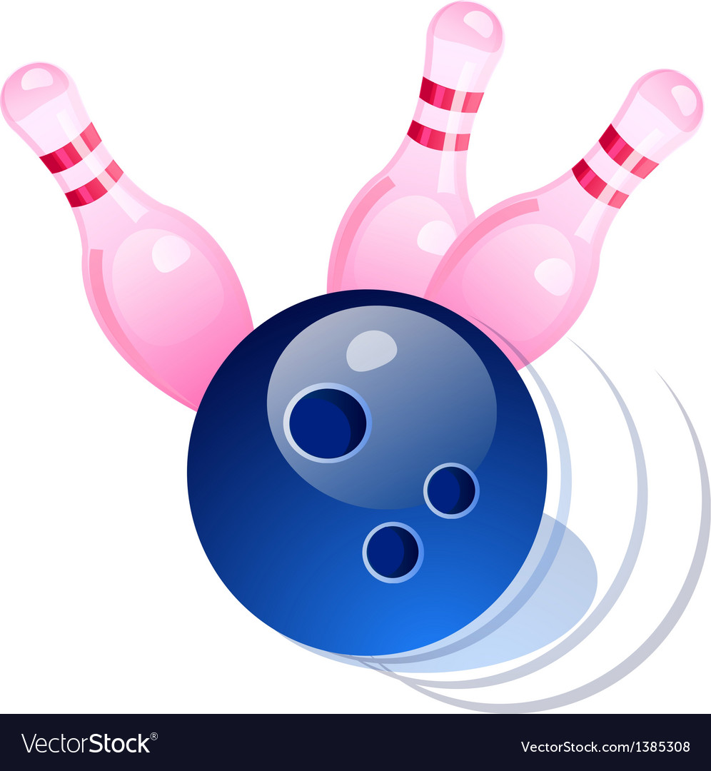 Icon bowling vector | Price: 1 Credit (USD $1)