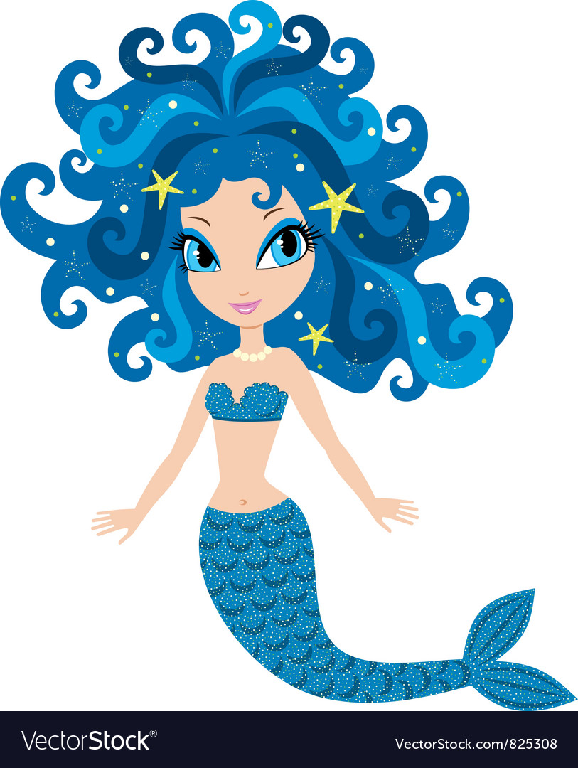 Mermaid cartoon vector | Price: 1 Credit (USD $1)