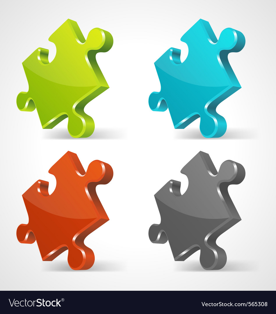 Puzzle icons vector | Price: 1 Credit (USD $1)
