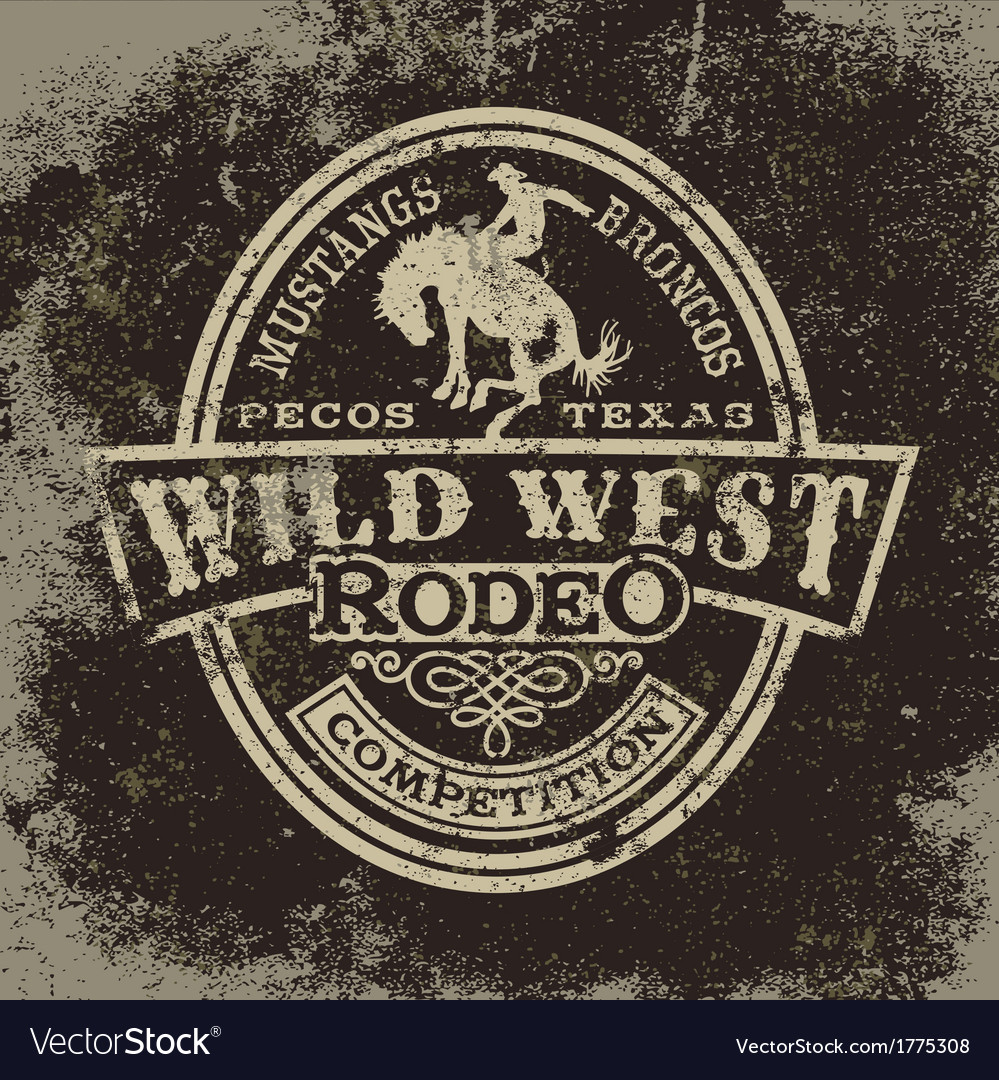 Wild west rodeo vector | Price: 1 Credit (USD $1)