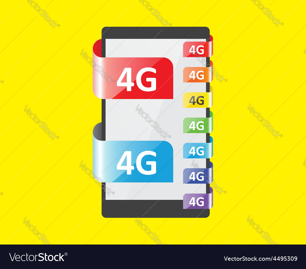 4g connection colors feature vector | Price: 1 Credit (USD $1)