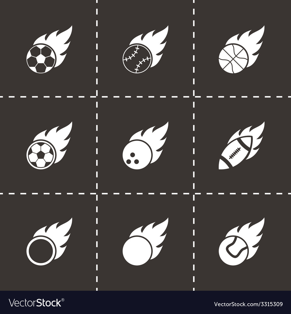 Black file sport balls icon set vector | Price: 1 Credit (USD $1)