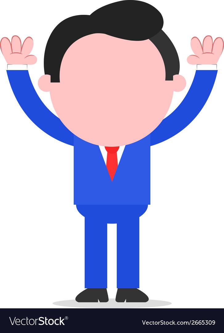 Businessman raising hands vector | Price: 1 Credit (USD $1)