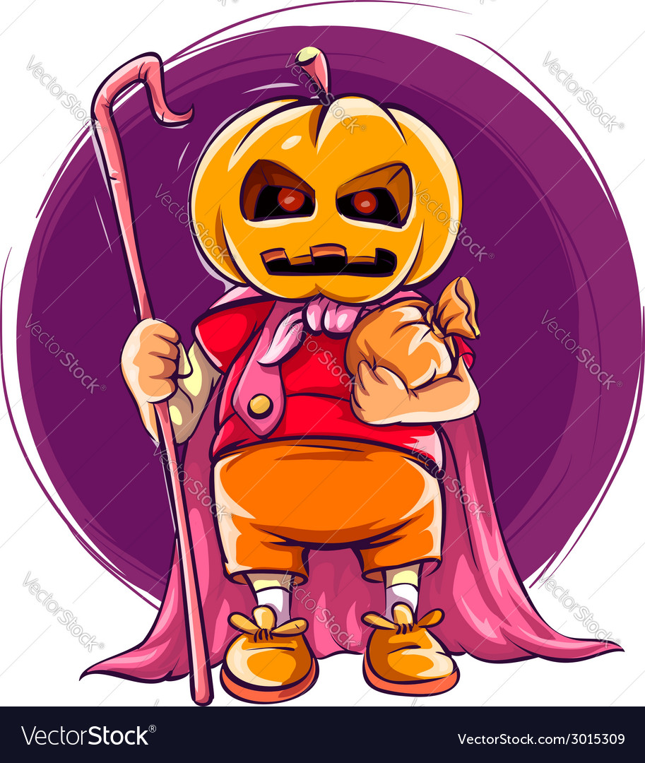 Child in halloween costume vector | Price: 1 Credit (USD $1)